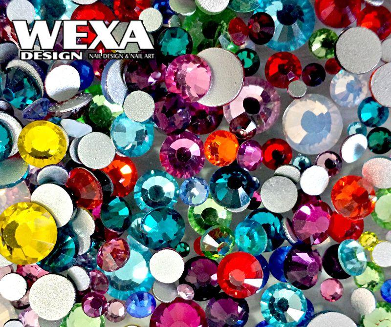 Zirkonium kamienky na nechty - Color MIX