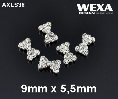 Crystal 3D Deco - AXLS36 - mašličky vykladané kamienkami