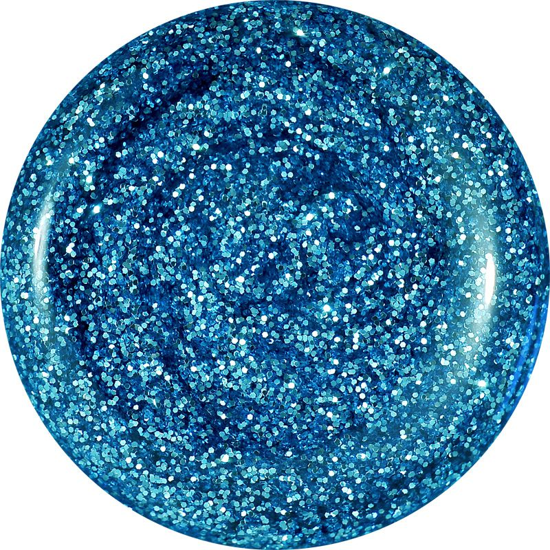 Farebný Glamour Glitz UV gél - Turkis