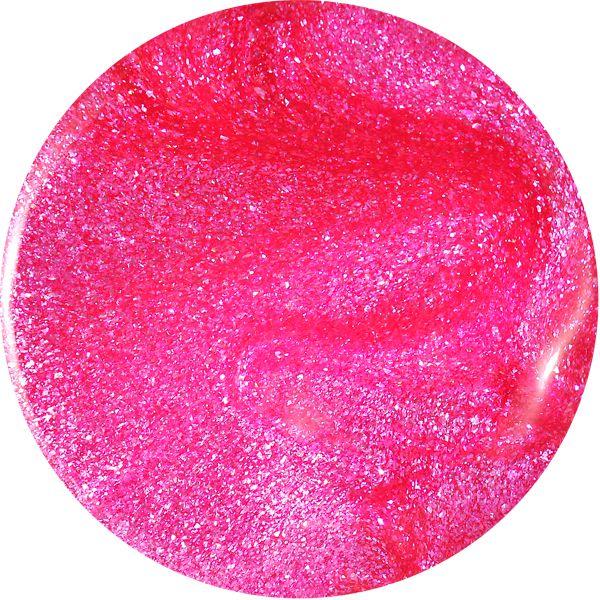 Farebný Glamour Glitz UV gél - Carnation
