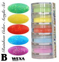 Rainbow Color Set B - Sada akrylových práškov