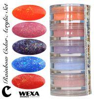 Rainbow Color Set C - Sada akrylových práškov