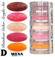 Rainbow Color Set D - Sada akrylových práškov