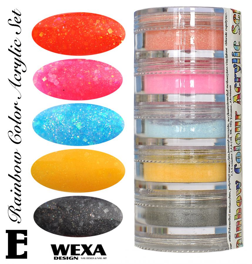 Rainbow Color Set E - Sada akrylových práškov