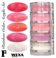 Rainbow Color Set F - Sada akrylových práškov
