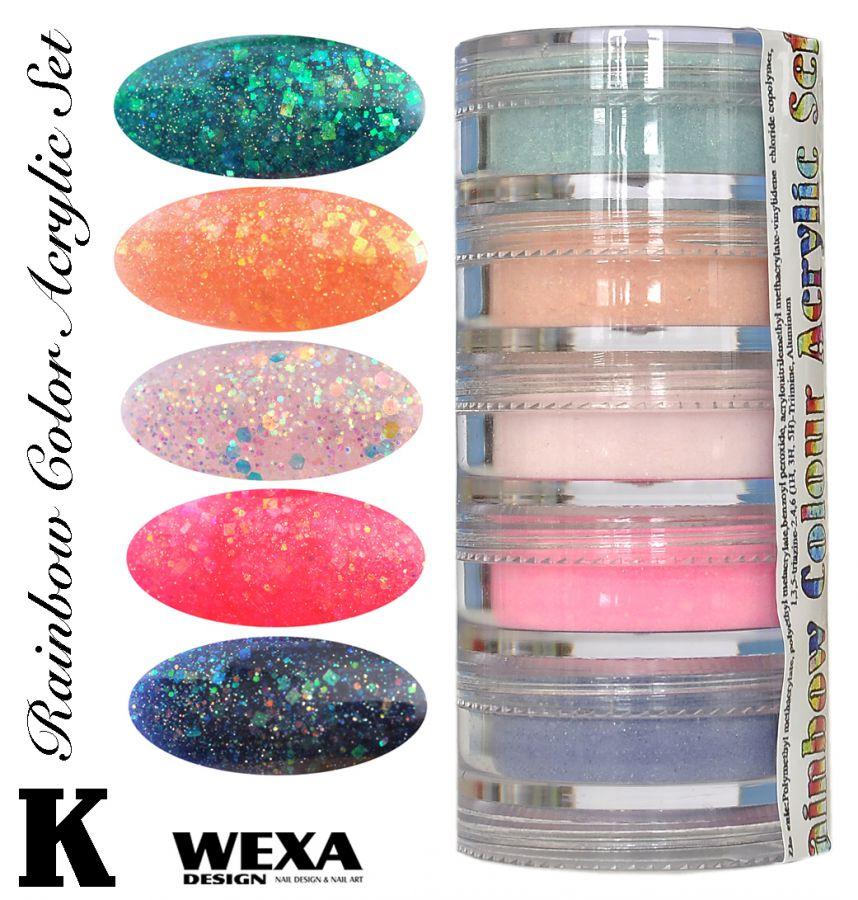 Rainbow Color Set K - Sada akrylových práškov