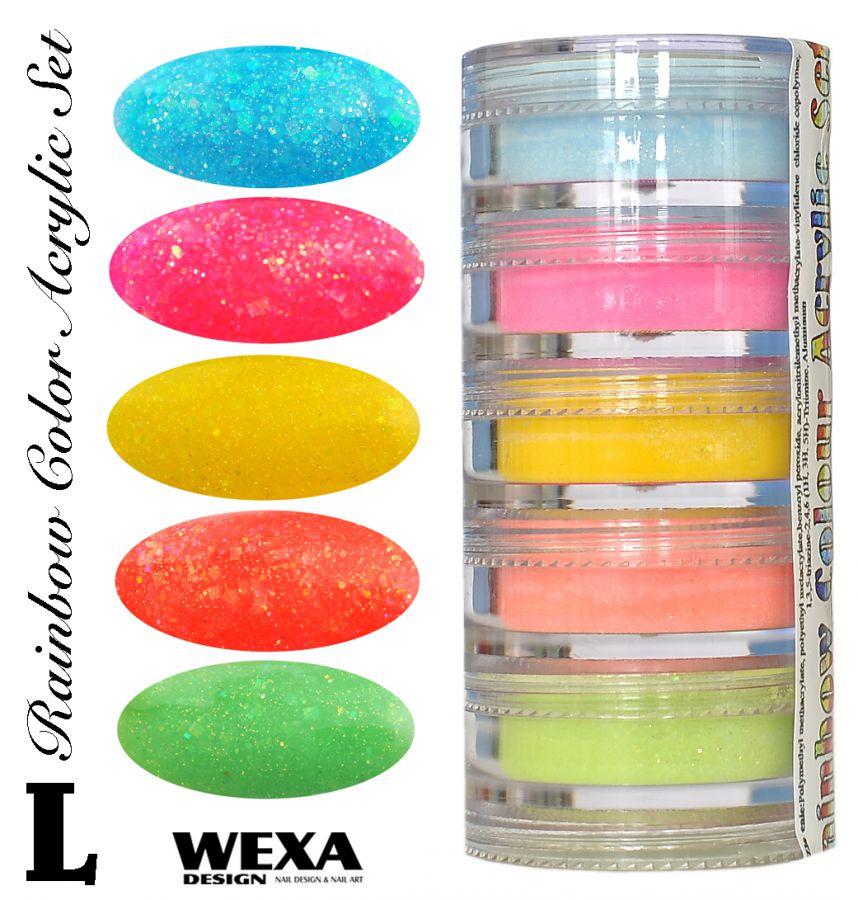 Rainbow Color Set L - Sada akrylových práškov