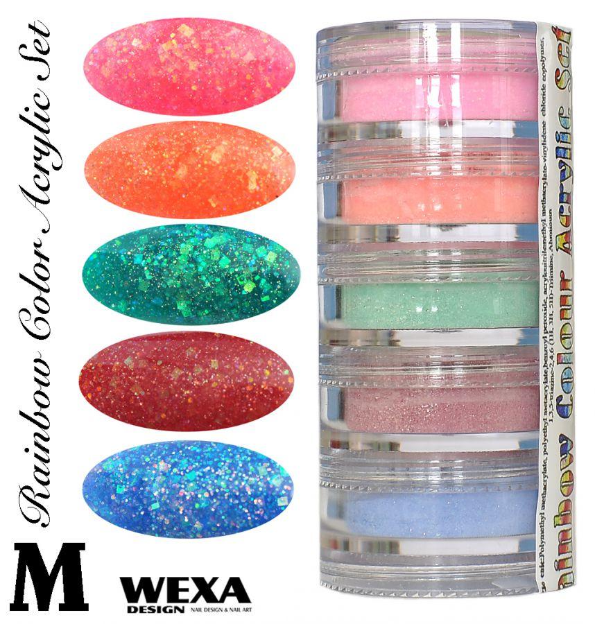 Rainbow Color Set M - Sada akrylových práškov