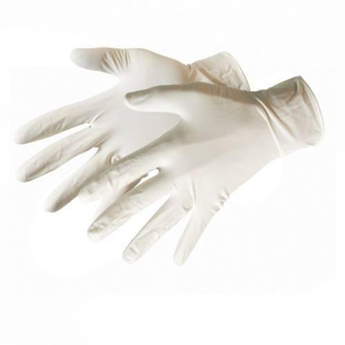 Latexové rukavice nepudrované zdrsnene SensiPlus - 1 pár