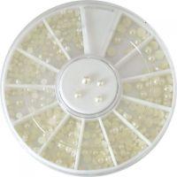 Kolotoč biele pol perličky