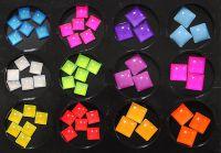 Akrylové 3D ozdoby hranaté - sada