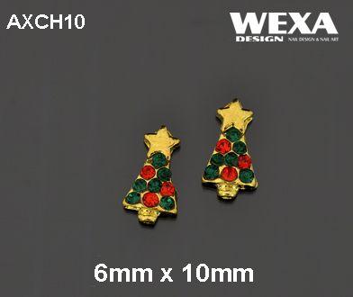 Crystal 3D Deco - AXCH10 - vianočný stromček z hviezdou