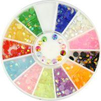 Farebné plastové diamanty AB - kolotoč