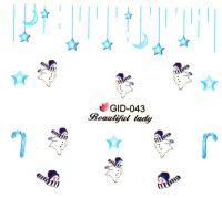 Fosforové vodolepky na nechty - GID043