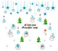 Fosforové vodolepky na nechty - GID044