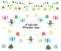 Fosforové vodolepky na nechty - GID055