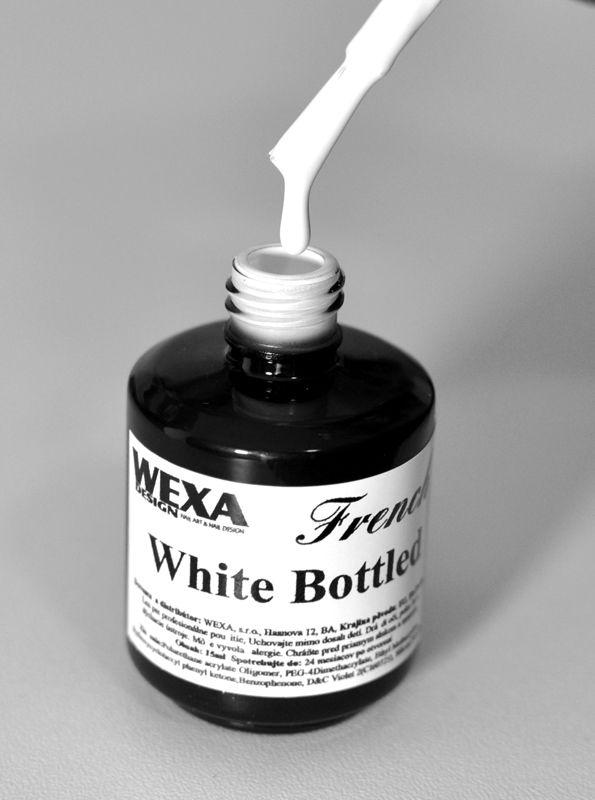 biely gél vo flaške so štetcom