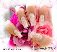 Mramorove gelove nechty - make up gel na nechty - nalepky na nechty