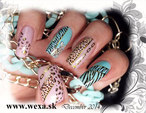 safari zlate vodolepky na nechty wexa