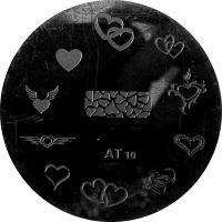 Stamping Nail Art Platnička - AT 10 srdiečka