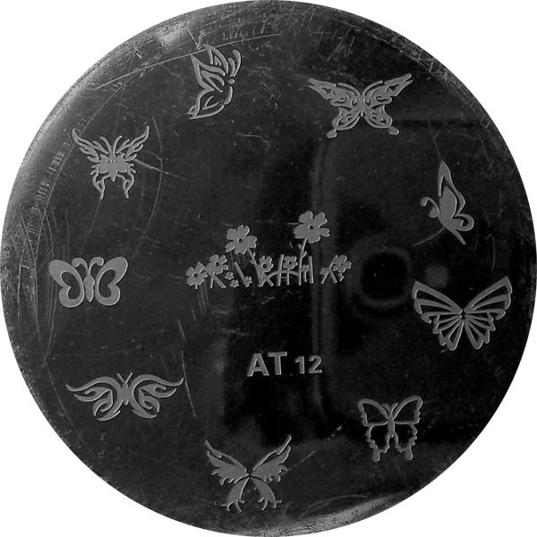 Stamping Nail Art Platnička - AT 12 motýliky