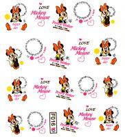 Vodolepky s trblietkami F016 Mickey Mouse
