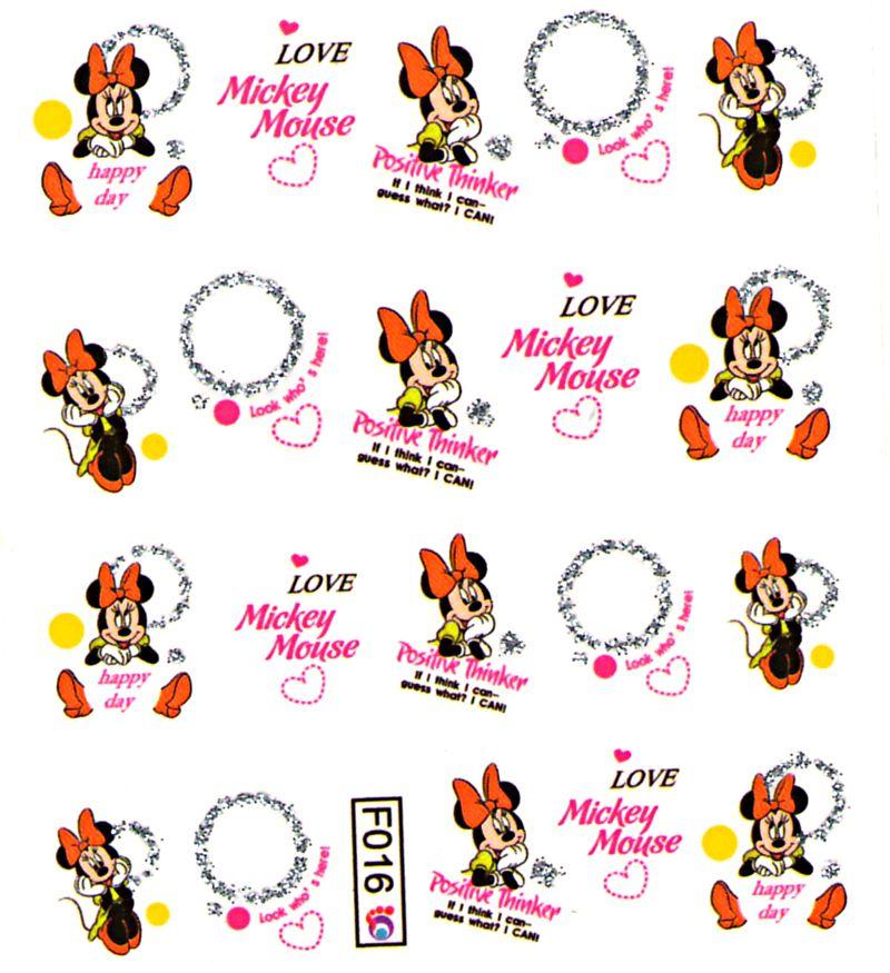 Vodolepky s trblietkami F016 Mickey Mouse 014bdb59f9f