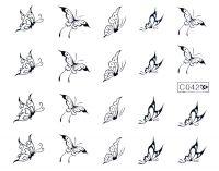 Vodolepky strieborné - C042 Motýle