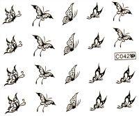 Vodolepky zlaté - C042 Motýle