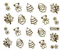 Vodolepky zlaté - C052 Vianočné