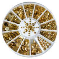 Zlaté kovové diamanty - kolotoč