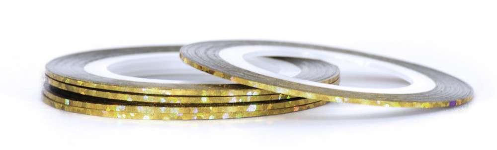 Samolepiaci pásik na nechty zlatý 29