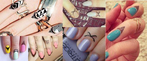 Cuticle tattoo - Fingers tattoo