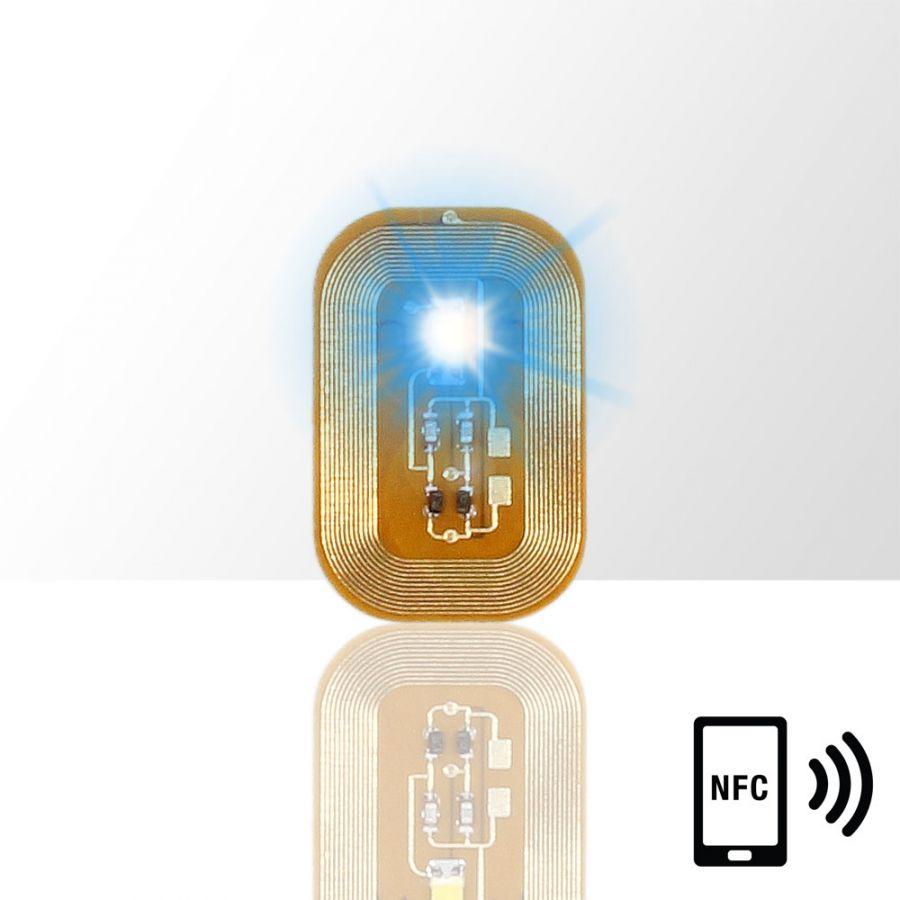 LED svietiaca nálepka na nechty - BLUE