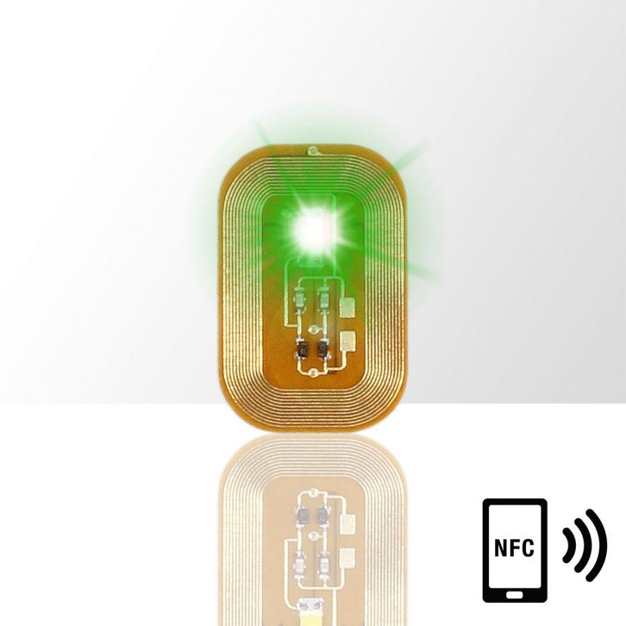 LED svietiaca nálepka na nechty - GREEN