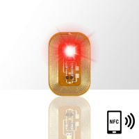 LED svietiaca nálepka na nechty - RED