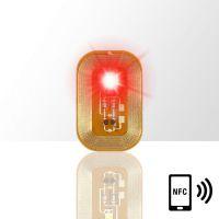LED svietiaca nálepka - RED