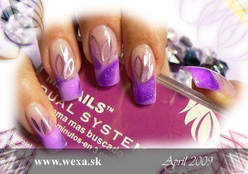 Fialové akrylove nechty wexa