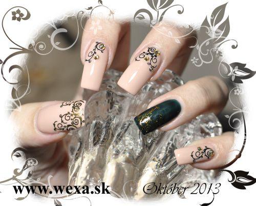 Gélové nechty v telovej farbe - NUDE style nails