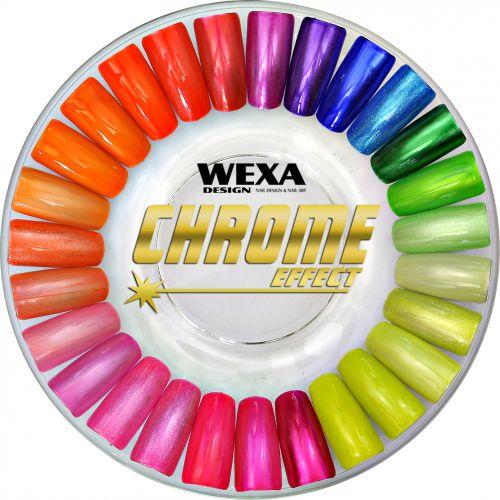 CHROME EFFECT - chrómové gélové nechty WEXA