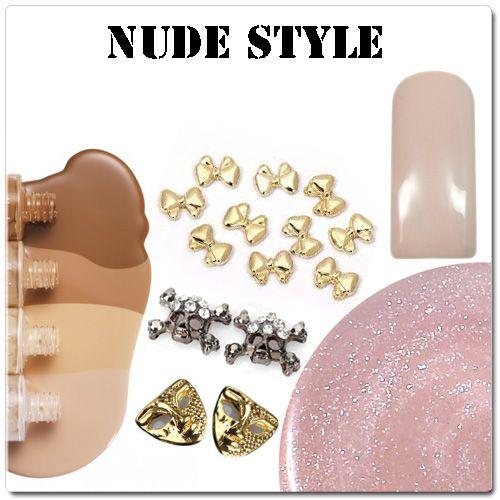Nude style nails - nahé gélové nechty
