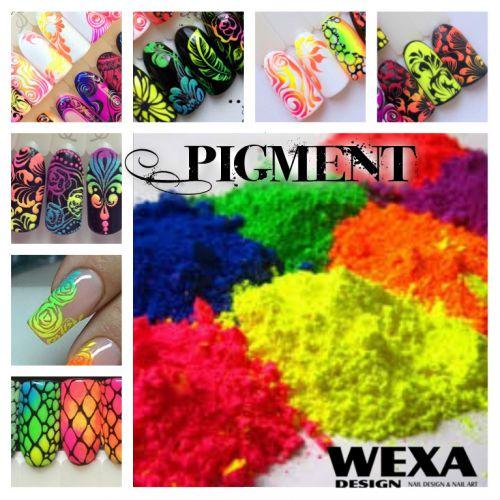 Neon Pigment prášok na zdobenie nechtov