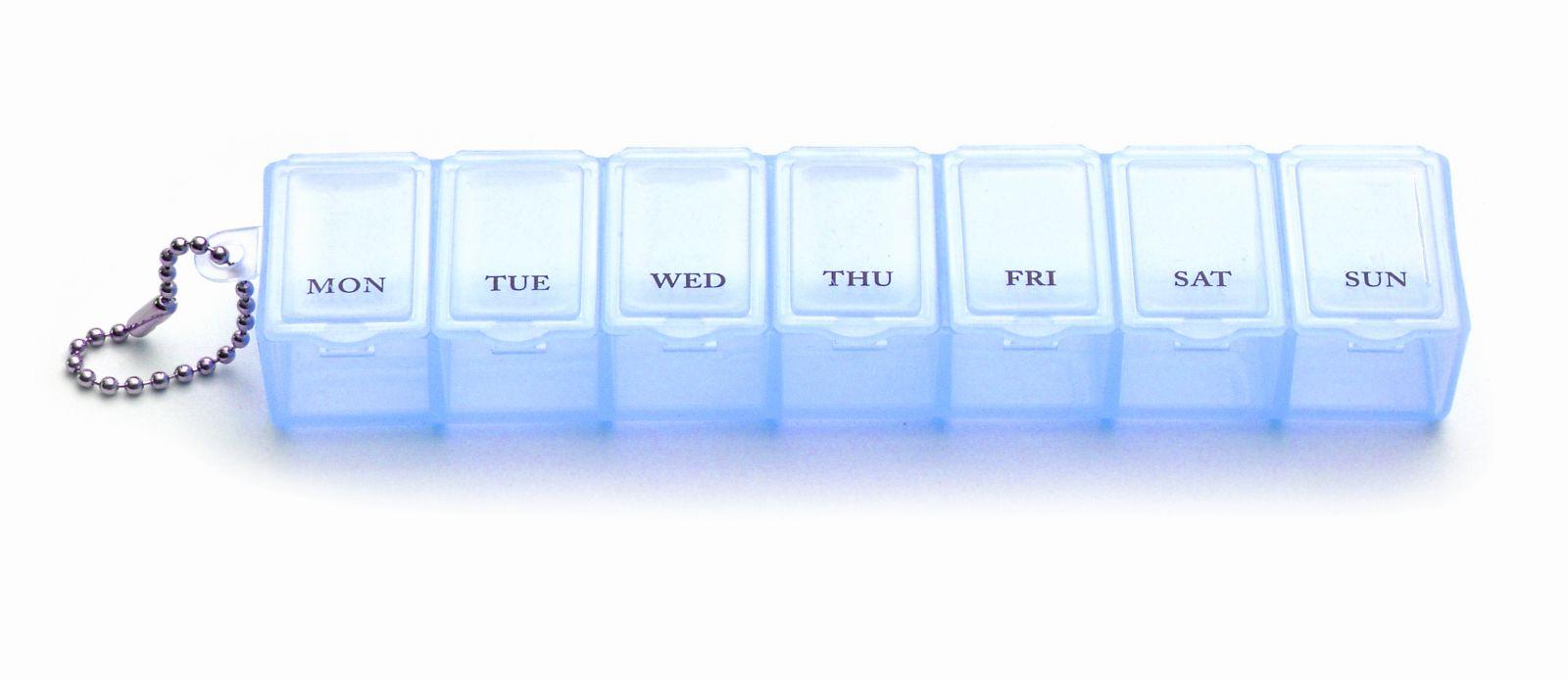 Plastový organizér 7 priečinkov - modrý
