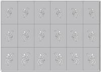 Šablónka samolepiaca - AS001