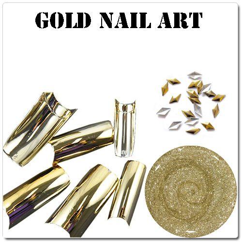 Gold nail art - zlaté gélové nechty