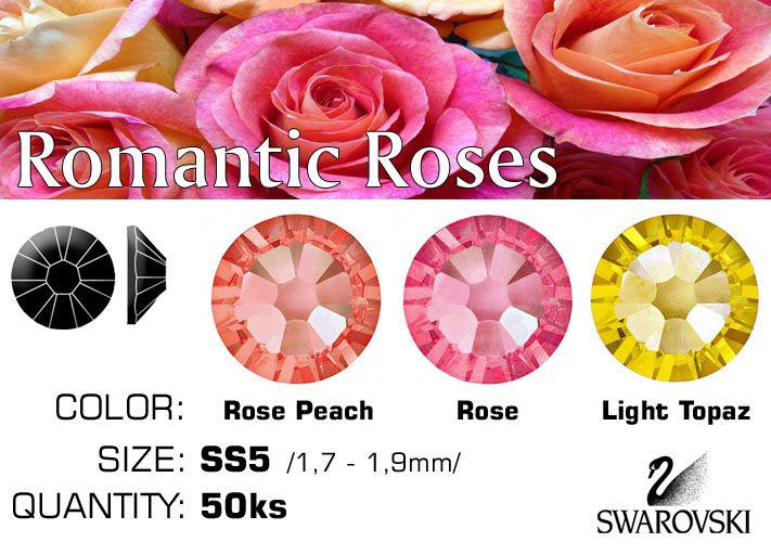 Swarovski F kamienky na nechty - Romantic Rose