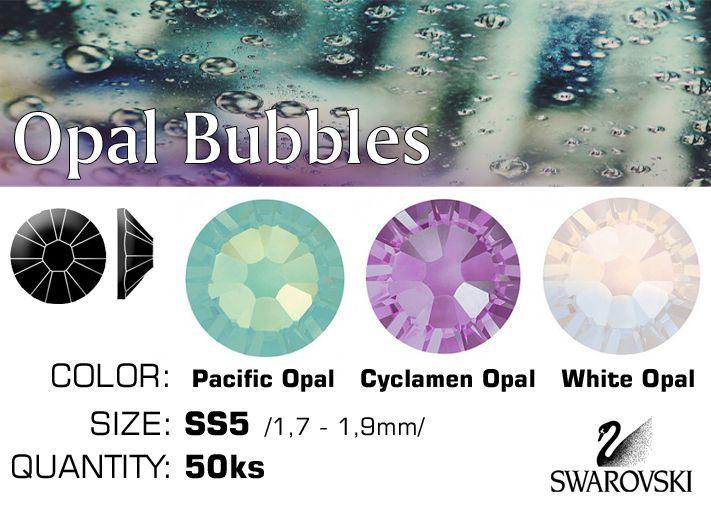 Swarovski F kamienky na nechty - Opal Bubbles