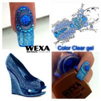 Clear color gel - Blue
