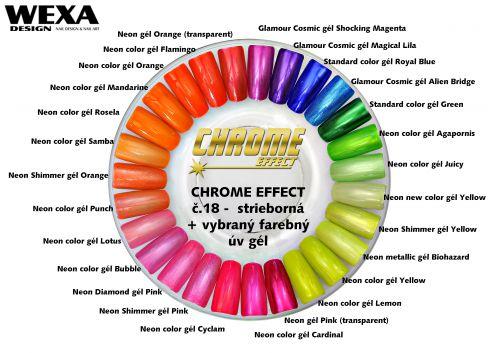 CHROME EFFECT a Neon Gel - metalické gély