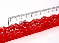 Čipka na nechty č.13 -  Červená